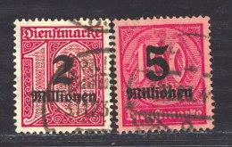 Allemagne  -  Reich  -  Services  :  Mi  97-98  (o)    Signé - Dienstpost