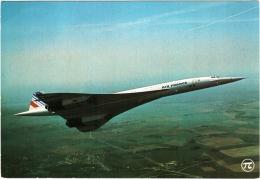 """CPM """"Concorde"""" Avion Super-sonique, 100 Passagers, Vitesse 2300 Km/h, Altitude De Croisière 16 à 19000 M - 1946-....: Moderne"""