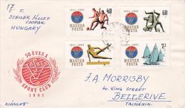 Hungary 1961 50th Anniversary  Sport Club Addressed FDC - FDC