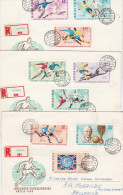 Hungary 1966 World Cup Championship Set Registered FDCs - FDC