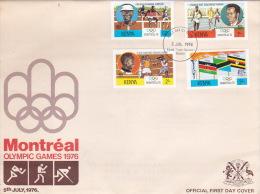 Kenya 1976 Montreal Olympic Games FDC - Kenya (1963-...)