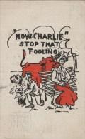 Charles, Arrêtez Vos Plaisanteries !  [ Humour Américain Méprise Vache Baiser Coup De Langue ] AF022 - Illustrateurs & Photographes