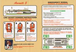 "Polynésie / Tahiti / Bateau De Transport De Passagers ""Aremiti 5"" / Consignes De Sécurité / Safety Card - Boats"