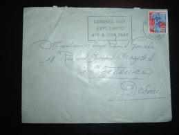 LETTRE TP MARIANNE A LA NEF 0,25F OBL.MEC. 20-5-1960 MONTELIMAR (26 DROME) + CONGRES ESPERANTO - Esperanto