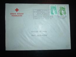 LETTRE TP SABINE DE GANDON 1,00F + 0,20F OBL.MEC.13-6-1979 ST BRIEUC GARE (22 COTES DU NORD) + CROIX-ROUGE FRANCAISE - Rotes Kreuz
