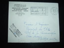 LETTRE RECONSTRUCTION BOULOGNE SUR MER CAPECURE OBL.MEC.26-2-1957 BOULOGNE-SUR-MER (62 PAS DE CALAIS)+ GRIFFE DELOISON - Fische