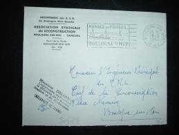 LETTRE RECONSTRUCTION BOULOGNE SUR MER CAPECURE OBL.MEC.19-2-1957 BOULOGNE-SUR-MER (62 PAS DE CALAIS)+ GRIFFE DELOISON - Fische