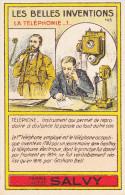 Chromo Rare Image Bon-point Farine Lactée Banania Salvy Vernon Les Belles Inventions La Téléphonie-1- N°143 - Trade Cards