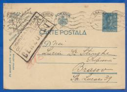 Rumänien; Carte Postala 4 Lei; 1941 Stempel Cenzura Militara Craiova - Enteros Postales