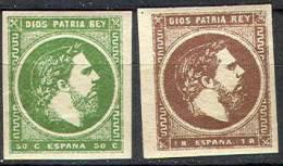 # Spain   X  6 & 7, Mint, XF  Og,  SCV $16    (sx006-3, Carlist Post 3 & 4;;;;[16-af - Carlistes