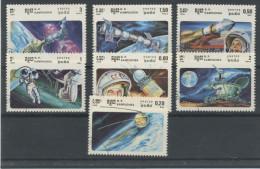 KAMPUCHÉA: MISSIONS SPACIALES N° Yvert 536/542 Obli. - Space