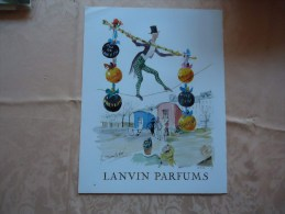 Pub De 1960 - Parfums - LANVIN - Cirque - - Advertising