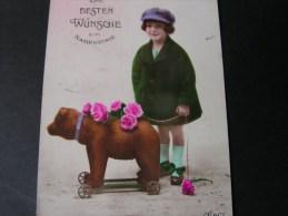 == Schönes Mädchen Motiv, Mädchen, Portrait, Fillet, Girl, Child   Mit Teddybär Und Mütze1925 - Spielzeug & Spiele