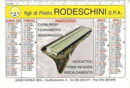 CAL007 - CALENDARIETTO 2002 - RODESCHINI - GORLE BERGAMO - Calendarios
