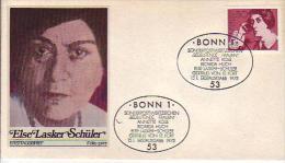 FDC  828  Bedeutende Frauen - Else Lasker Schüler (1869-1945), Bonn 1 - [7] Federal Republic