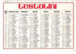 CAL029 - CALENDARIETTO 2002 - TESTOLINI - Calendarios