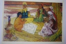 "UZBEKISTAN . CHERNUKHIN ""DRINKING KOK - TEA""  - Old USSR PC 1972 - Uzbekistan"