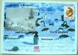 ROUMANIE MANCHOTS, PINGOUINS, Centenaire BELGICA. Entier Postal Neuf Emis En 1998 Philatelie Polaire (1) - Penguins