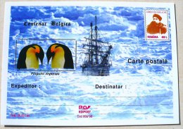 ROUMANIE MANCHOTS, PINGOUINS, Centenaire BELGICA. Entier Postal Neuf Emis En 1998 Philatelie Polaire (4) - Penguins