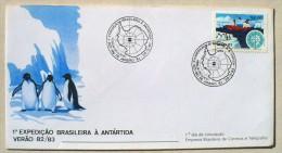 BRESIL MANCHOTS, PINGOUINS, Philatelie Polaire, Yvert 1588 FDC, Premier Jour 20/02/1983 - Penguins