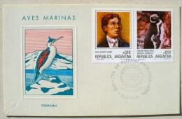 ARGENTINE MANCHOTS, PINGOUINS, Philatelie Polaire, Yvert 1528 FDC, Premier Jour 31/05/1986 - Penguins