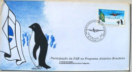 BRESIL MANCHOTS, PINGOUINS, Philatelie Polaire, Yvert 1829 FDC, Premier Jour 09/03/1987 - Penguins