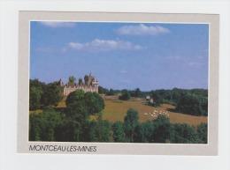 71 - MONTCEAU Les Mines - Château Du Plessis - Vaches Dans Un Pré - Photo Scope J.L. Barde - Cim - Montceau Les Mines