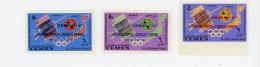 Yemen Kingdom-1965-UIT-Syncom-G Emini 5 En Surcharge- MI 179/81A***MNH-NON Dentelé
