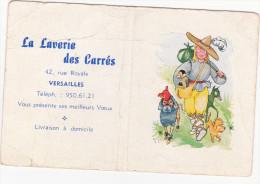 CALENDRIER 1962 Laverie Des Carrés  Rue Royale Versailles - Petit Format : 1961-70