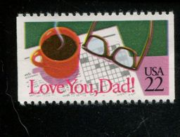 205199350 USA 1986 ** MNH SCOTT 2270 Special Occasions LOVE YOU DAD - Neufs