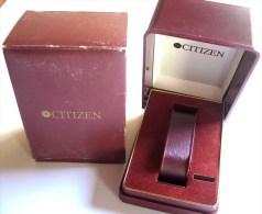 CITIZEN  WATCH - SCATOLA BOX VINTAGE CITIZEN - MASSIMA QUALITA´ LUSSO NUOVISSIMA - Sin Clasificación