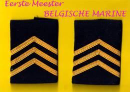 GRADEN EERSTE MEESTER MARINE GRADE PREMIERE MAITRE ZEEMACHT FORCE NAVALE BELGE MILITAIRE Onderofficier Sous-officier 864 - Uniforms