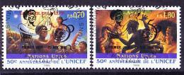 UNO Genf Geneva Geneve - 50 Jahre UNICEF (MiNr: 301/2) 1997 - Gest Used Obl - Usati