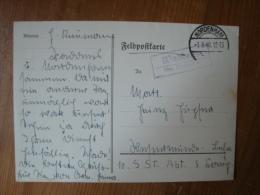 """2. WK. Feldpostkarte Mit Landpoststempel""""Waddens über Nordenham"""" Gelaufen 1940 ! - Oblitérés"""