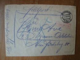 2. WK. Feldpostbrief  Nr 08609 Von Rendsburg Nach Bremen Mit Nachgebühr, Gelaufen 1944 ! - Gebruikt