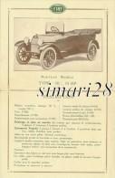 """FIAT 1912 - NOUVEAU MODELE - TYPE """"70"""" 15 HP - Automobile"""