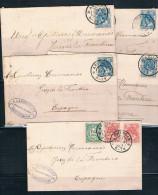 Holanda. 1903. Conjunto De 5 Cartas A España - Periode 1891-1948 (Wilhelmina)