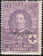 """KAP JUBI  36     """"Rotes Kreuz"""" Nicht Verausgabte Marke Von Spanien MNH / ** / Postfrisch ACHTUNG:Scan Ist Nur Bildmuster - Cape Juby"""