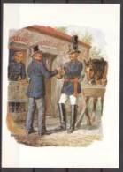 Reichs - Postverwaltung , Landbriefträger Und Postillion , 1871 , Aquarell Von G. Müller ( 205-06 ) - Post & Briefboten