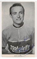 CARTE POSTALE  SIGNEE RENE MARIGIL TEAM MOBYLETTE 1957 - Cyclisme