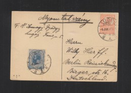 Romania PPC Timisoara 1922 Lugoj To Germany - 1918-1948 Ferdinand, Charles II & Michael