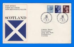 GB 1978-0010, New Definitive Values (Scotland) FDC, PB Edinburgh SHS - FDC