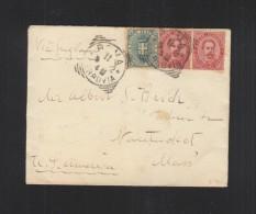 Italy Cover 1892 To USA - 1878-00 Humbert I.