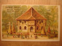 CHROMO CARTE CHOCOLOAT POULAIN - SENEGAL - 10,5X6,5 - TBE - Poulain