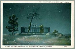 Buffalo Bill's Grave By Moonlight Denver Mountain Parks ca. 1920 Postcard (nn-67)