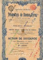 Action Tramways Buenos-Aires - Part Ateliers Germain-Anglo - Action Transport-Automobile Congo - ObligCh De Fer Equateur - Chemin De Fer & Tramway