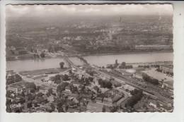 7640 KEHL, Luftaufnahme, Rheinbrücken, Blick Auf Strassbourg, 1957 - Kehl