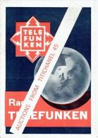 Brochure Publicitaire De 1934 RADIO TELEFUNKEN Serie 1934/1935 Modèles 125 - 330 - 347 - 644 - 657 - 658 - Publicités