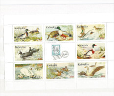 REPUBLIQUE KALMOUKIE   Oiseaux D'eau - Stickers