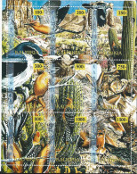 REPUBLIQUE KALMOUKIE   Oiseaux Et Mammiféres - Stickers